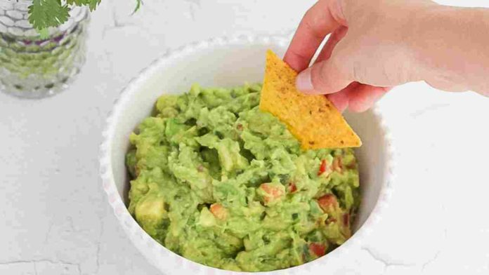Classic, simple guacamole for the broadcast of your next game day